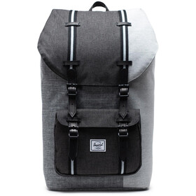 Herschel Little America Plecak, raven crosshatch/black crosshatch/lt gret crosshatch